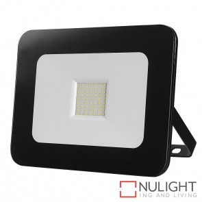 Aray Black Flood Light 50W 240V Led Cool White HAV