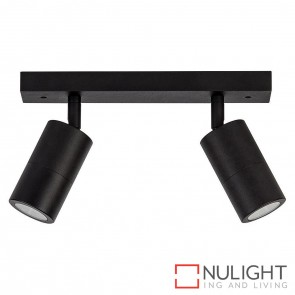 Black 2 Light Bar 2X 5W Gu10 Led Warm White HAV