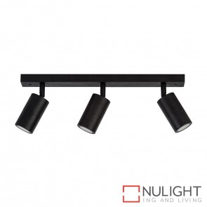 Black 3 Light Bar 3X 5W Gu10 Led Warm White HAV