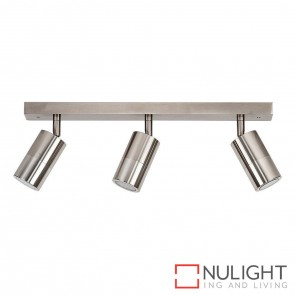 Titanium Coloured Aluminium 3 Light Bar 3X 5W Gu10 Led Warm White HAV