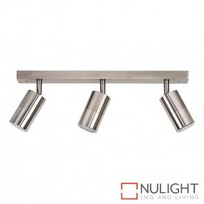 Titanium Coloured Aluminium 3 Light Bar 3X 5W Gu10 Led Warm White HAV