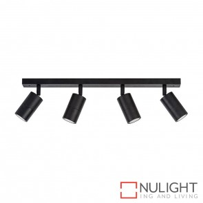 Black 4 Light Bar 4X 5W Gu10 Led Cool White HAV
