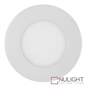 White Round Recessed Panel Light 4W 240V Led Cool White HAV