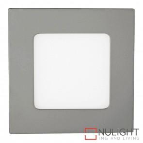 Silver Square Recessed Panel Light 4W 240V Led Cool White HAV