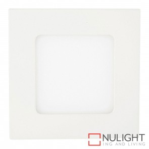 White Square Recessed Panel Light 4W 240V Led Cool White HAV