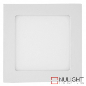 White Square Recessed Panel Light 9W 240V Led Cool White HAV