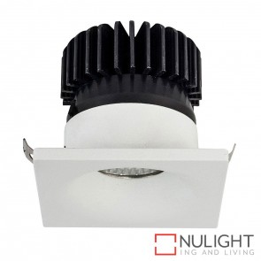 White Square Mini Recessed Downlight 3W 240V Led Warm White HAV