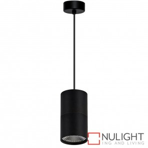 Black Surface Mounted Round Pendant 7W 240V Led Warm White HAV