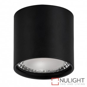 Black Surface Mounted Round Downlight 7W 240V Led Cool White HAV