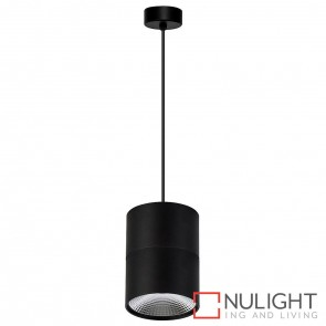 Black Surface Mounted Round Pendant 12W 240V Led Cool White HAV