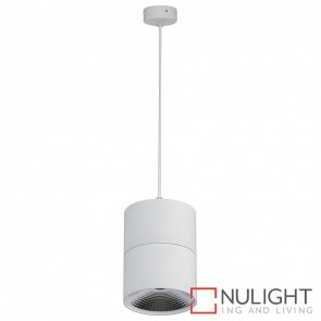 White Surface Mounted Round Pendant 12W 240V Led Cool White HAV