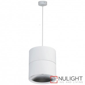 White Surface Mounted Round Pendant 18W 240V Led Cool White HAV