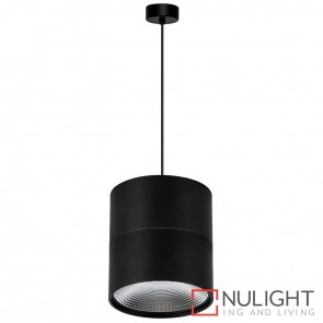 Black Surface Mounted Round Pendant 18W 240V Led Cool White HAV