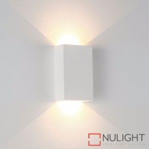 Gallery Square Plaster Surface Mounted Wall Light 2 X 3W 240V Led Warm White HAV