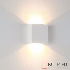 Candy Square Plaster Surface Mounted Wall Light 2 X 3W 240V Led Cool White HAV