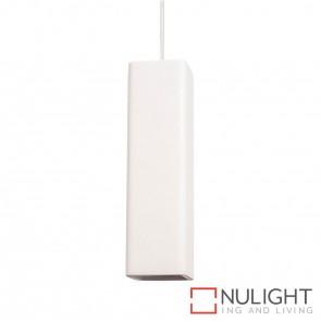 Gesso Square Surface Mounted Plaster Single Pendant 5W Gu10 Led Cool White HAV