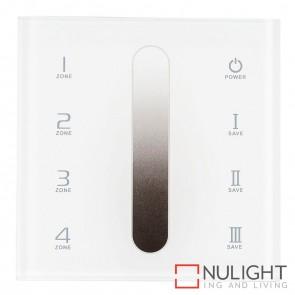 Single Colour 4 Zone 2.4Ghz Led Strip Touch Panel Controller 240V HAV