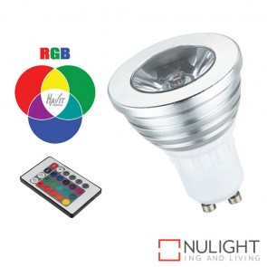 5W Rgb 240V Gu10 Led Globe With Remote HAV
