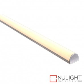 26Mm X 23Mm Shallow Square Aluminium Profile With Rounded Opal Diffuser - Kit - Per Metre HAV