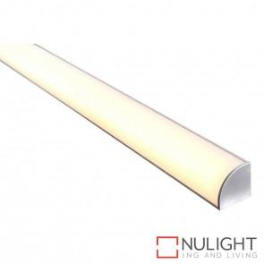 30Mm X 30Mm 90 degree Corner Aluminium Profile With Opal Diffuser - Kit - Per Metre HAV