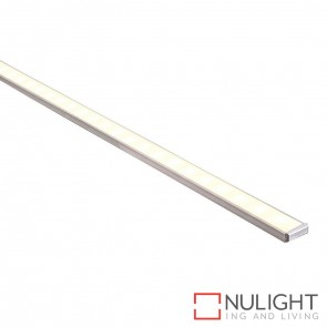15Mm X 6Mm Shallow Square Aluminium Profile With Opal Diffuser - Kit - Per Metre HAV