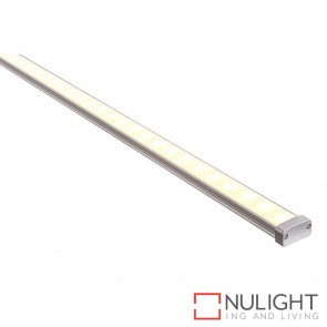 19Mm X 8Mm Ip65 Shallow Square Aluminium Profile With Opal Diffuser - Kit - Per Metre HAV