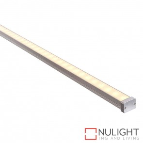18Mm X 13Mm Ip65 Shallow Square Aluminium Profile With Opal Diffuser - Kit - Per Metre HAV
