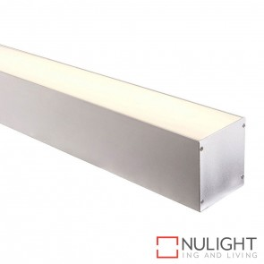 80Mm X 90Mm Large Deep Square Aluminium Profile With Opal Diffuser - Kit - Per Metre HAV