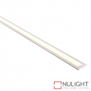 25Mm X 9Mm Shallow White Square Winged Aluminium Profile With Opal Diffuser - Kit - Per Metre HAV