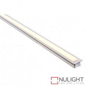 25Mm X 15Mm Deep Square Winged Aluminium Profile With Opal Diffuser - Kit - Per Metre HAV