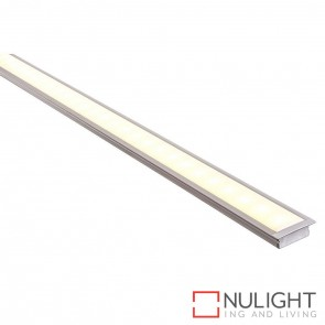 30Mm X 10Mm Shallow Square Winged Aluminium Profile With Opal Diffuser - Kit - Per Metre HAV