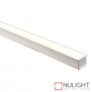 44Mm X 35Mm Large Square Winged Aluminium Profile With Opal Diffuser - Kit - Per Metre HAV