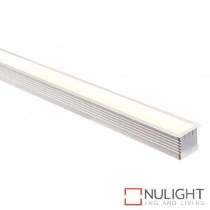 44Mm X 35Mm Large Square Winged Aluminium Profile With Opal Diffuser - Kit - Per Metre HAV