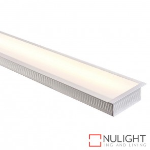 100Mm X 35Mm Large Deep Square Winged Aluminium Profile With Opal Diffuser - Kit - Per Metre HAV