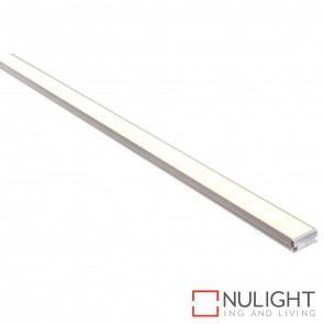 19Mm X 9Mm Trafficable Aluminium Profile With Opal Diffuser - Kit - Per Metre HAV