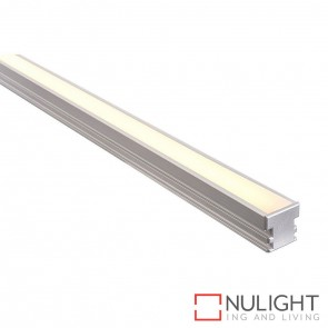 26Mm X 26Mm Trafficable Aluminium Profile With Opal Diffuser - Kit - Per Metre HAV