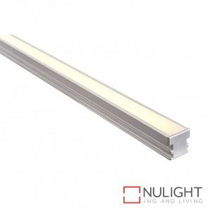 26Mm X 26Mm Trafficable Aluminium Profile With Opal Diffuser - Kit - Per Metre HAV