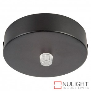 90Mm Surface Mounted Round Canopy Black HAV