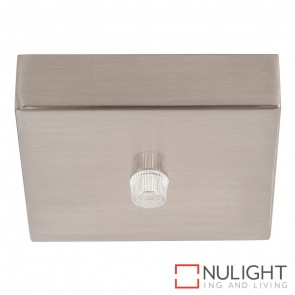 90Mm Surface Mounted Square Canopy Satin Chrome HAV