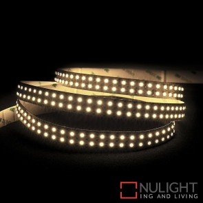 24V Dc 19.2W Per Metre Ip20 Double Row Led Strip Warm White 3000K HAV