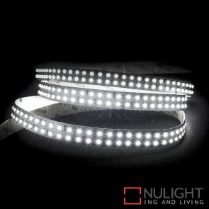 24V Dc 19.2W Per Metre Ip20 Double Row Led Strip Natural White 5500K HAV