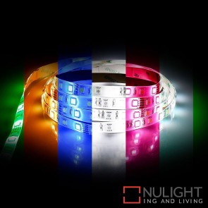 12V Dc 14.4W Per Metre Ip54 Led Strip Rgb + Natural White 5500K HAV