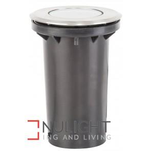 110Mm 316 Stainless Steel Round Adjustable Inground Uplighter 5W Mr16 Led Cool White HAV