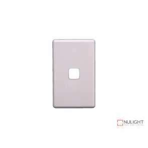 Grid Plate and Cover for 1 Gang Switch - White VBL