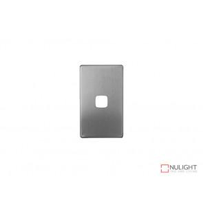 Cover for 1 Gang Switch  - Satin Chrome VBL
