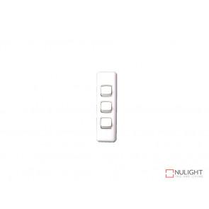 Architrave 3 Gang Switch - White VBL