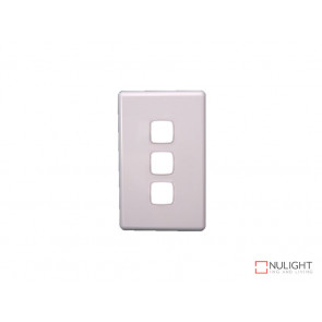 Grid Plate and Cover for 3 Gang Switch - White VBL