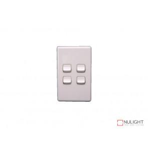 4 Gang Switch - White VBL