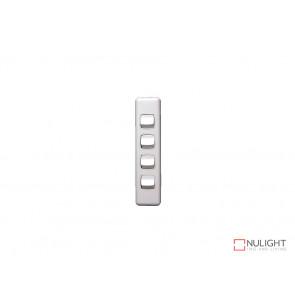 Architrave 4 Gang Switch - White VBL