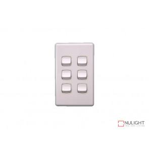 6 Gang Switch - White VBL